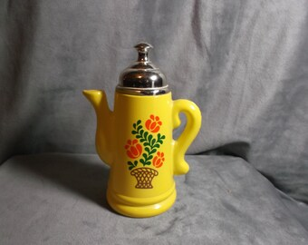 Vintage Avon Koffee Klatch Lemon Yellow Coffee Pot bottle