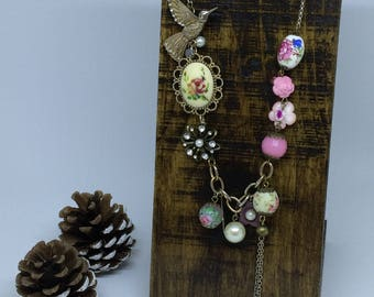 Wood Necklace Display, Rustic Necklace Display, Jewellery Stand, Necklace Display Stand, Craft Fair Jewellery Display, Handmade, Reclaimed