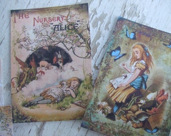 Alice in Wonderland notecards - Alice notecards -  notecards -  blank notecards - embellishments
