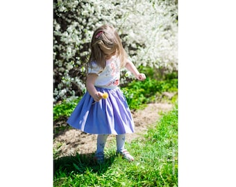 Beautiful light purpule girl tulle skirt, little girls skirt, tulle skirt, soft tulle skirt, princess tutu skirt, flower girl