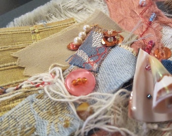 By The Sea: Textile / Fabric Handmade Card Active