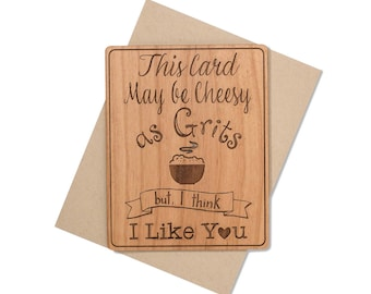 Funny Valentine Card for Him - Unique Valentines Day Cards Wood - Valentines Greeting Card - Southern Sayings