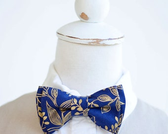 Bow Tie, Bow Ties, Boys Bow Ties, Baby Bow Ties, Bowties, Ring Bearer, Bow Ties, Rifle Paper Co - Queen Anne In Navy And Gold
