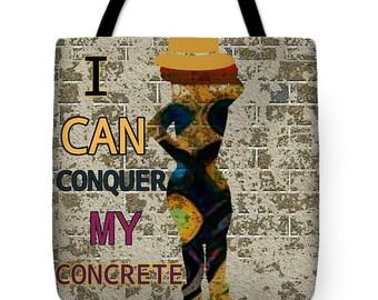 Conquer Conrete Signature Bag