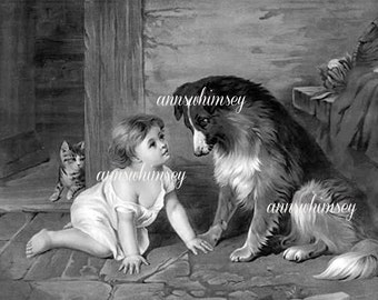 """Child Dog Art Classic """"Can't You Talk""""  #436"""
