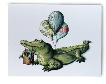 Alligator Birthday Cards w/Envelopes {8-Pack}