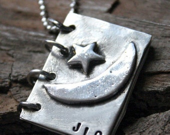Sterling silver - Dream Book Necklace