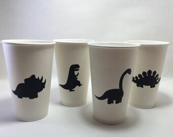 24 dinosaur adhesive chalkboard labels birthday party silhouette party mason jars baby shower dino