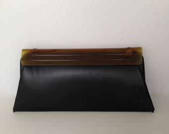 Vintage black evening clutch from the 1960s