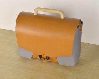 Leather bag // Leather handbag // Leather crossbody bag // Handbag - Grey . Shoulder bag.