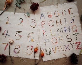full kit | hand embroidery kit | embroidery kit | diy embroidery | diy embroidery kit | embroidery pattern | alphabet embroidery