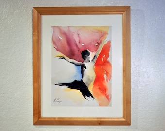 "Giclee of Original Watercolor Painting ""Dance Study 1"" by artist John Carollo"