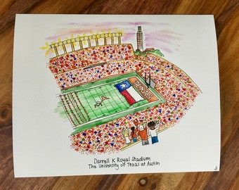 DKR Stadium, UT Austin Print
