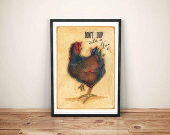INSPIRING PRINTS. Perfect & satisfying interior decoration for your home. gym, chicken, motivational, encouragement, gift, art, print, funny