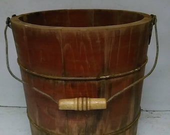 Wooden pail or bucket