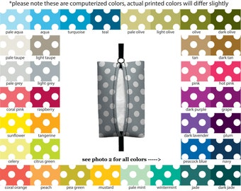 Auto Sneeze - Mini Polka Dots - PICK YOUR COLOR - Visor Tissue Case/Cozy - Car Accessory Automobile polkadots