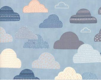 1 Yard Wild and Free by Abi Hall for Moda- 35313-15 Sky