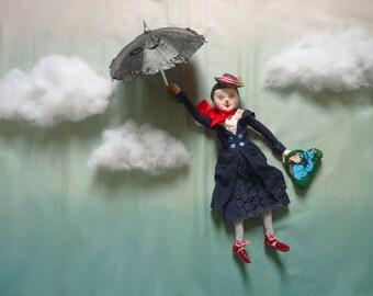 Mary Poppins Art Doll, an OOAK Doll