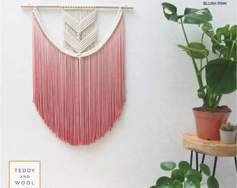 "Medium Macrame Wall Hanging - Woven Wall Hanging - Bohemian Tapestry- Macrame Curtains - Wall Hanging Ideas - Cord - Wall Decor - ""EVA"""
