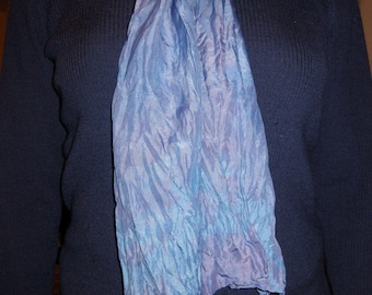 Naturally Dyed Silk Scarf - Shades of Purple