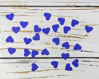 heart confetti dark blue