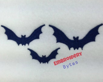 Bat Machine Embroidery Design Halloween