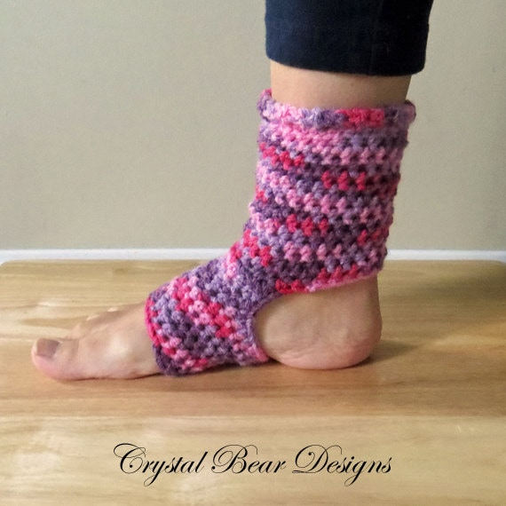 Crochet Yoga Socks PATTERN / Tutorial / Ladies Teen Child All