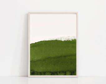 Abstract Green Print. Sage Green Art Print. Olive Green. Forest Green Wall Art. Minimal. Minimalist Print. Abstract Wall Art. Organic Art