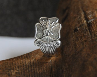 Girl Guides of Canada ring, Brownie ring , Elf ring, Girl guide ring, Canada ring, spoon ring