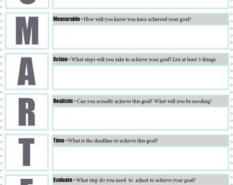 SMARTER goal-setting printable PDF-file