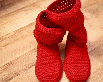 Crochet Slipper Pattern - Mamachee Boots (Adult Women Sizes)
