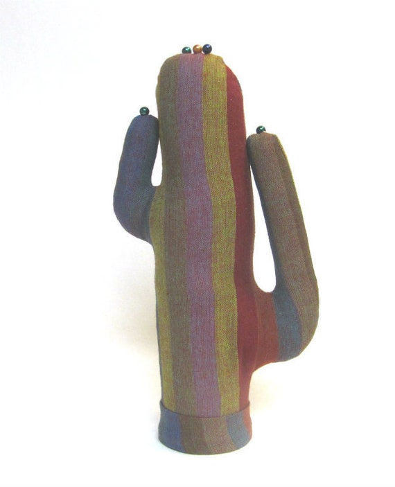 Tall Striped Saguaro CACTUS-Stand ~ Watch Eyeglass Jewelry Holder ~ Ready to Ship