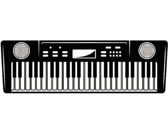 keyboard clipart etsy rh etsy com colorful piano keyboard clipart piano keyboard clipart black and white