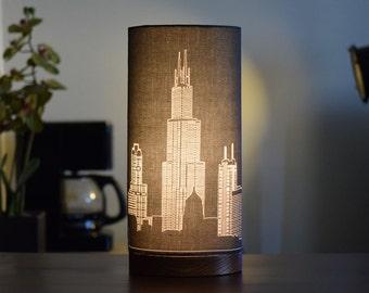 Chicago Skyline Drum Lamp