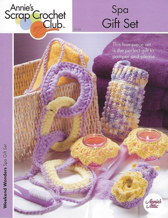 Spa Gift Set Crochet Pattern Soap Sachet Beaded Candle Collar