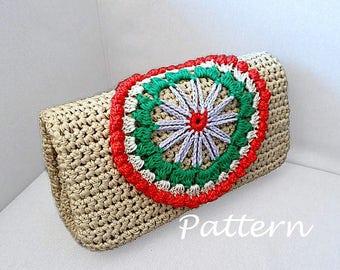CROCHET PATTERN Crochet Bag Pattern crochet purse pochette pattern woman bag, evening bag, summer bag, handbag, crochet bag, clutch