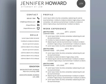 "Modern Resume Template | CV + Cover Letter | Creative Resume Designs | Mac or PC | Fully Customizable (""Hyperion"")"
