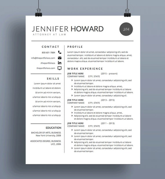 mod u00e8le de cv moderne cv lettre de motivation cv cr u00e9atif