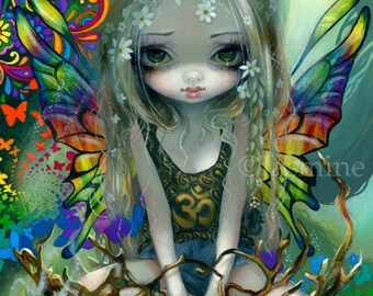 Paisley hippie flower child fairy art print by Jasmine Becket-Griffith 8x10 surreal hippy