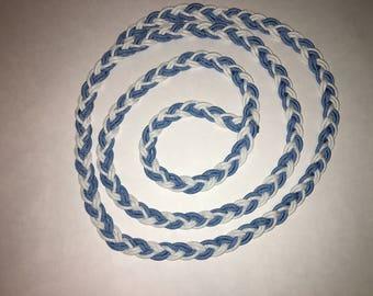 Thin ( 6- strand) adjustable barrel reins