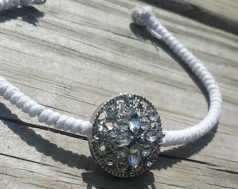 White Sparkle Beaded Bracelet