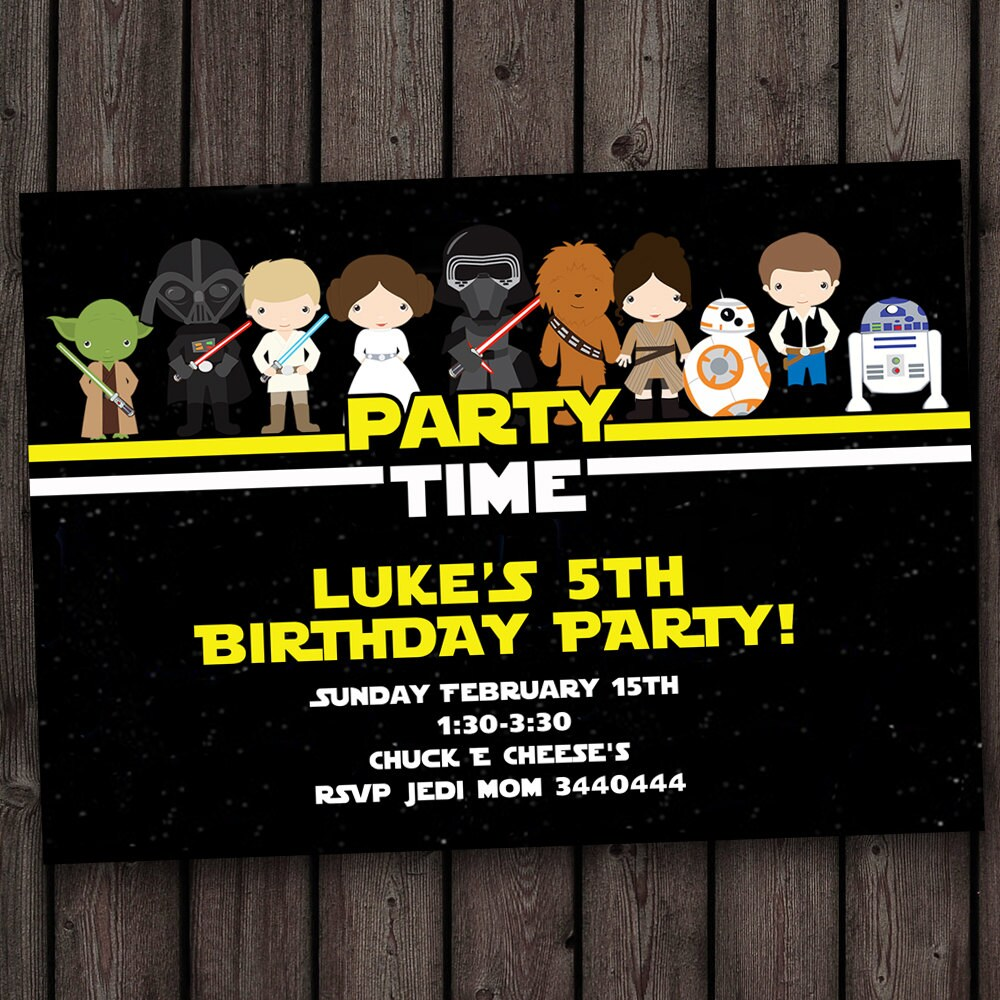 Star wars invitation star wars birthday invitations fast zoom filmwisefo Images