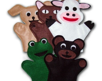 Animal hand Puppets Sewing Pattern