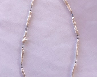 Freshwater Stick Pearl and Swarovski Crystal Necklace