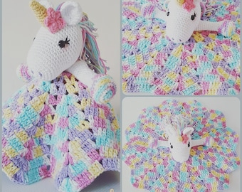 Lavender Unicorn Snuggle Blanket crochet pattern only not a finished product - PDF Crochet Pattern Instant Download