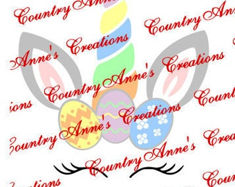 SVG PNG DXF Eps Ai Wpc Cut file for Silhouette, Cricut, Pazzles - Unicorn rabbit easter - svg