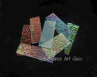 COE 90 ~ 1/4 lb Dichroic Wissmach Thin CLEAR Texture Jeweler's Scrap Fusing Supplies