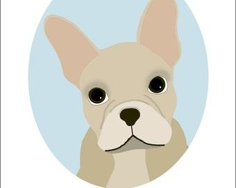 Dog Portrait Series   French Bulldog