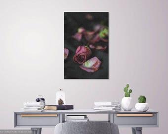 Blood Splattered Flowers  - The Walking Dead (TWD) Gift Print - Metal Print - Canvas - Wall Art