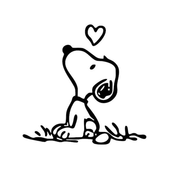 Snoopy Liebe Grafiken SVG Dxf EPS Png Cdr Ai Pdf Vektor Art